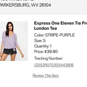 **BEAUTIFUL** Express One Eleven Vneck Shirt